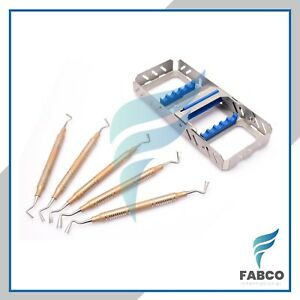 Gingival Cord Packer Retraction Dental Instruments 5pcs With Dental Cassette