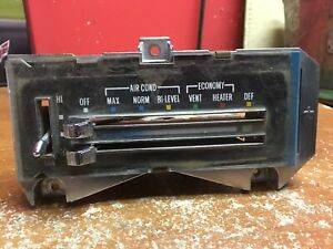 1976 Chevrolet Camaro Heater Ac Controls With Levers 362597 2 Used Oem