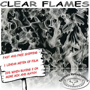 Hydrographic Water Transfer Hydrodipping Film Hydro Dip Clear Flames 1m