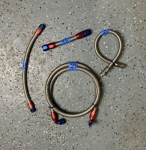 Bundle Of Braided Fuel Nitrous Lines W Various An Fittings