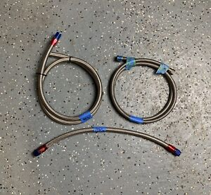 Bundle Of Braided Nitrous Fuel Lines W Various An Fittings