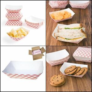Disposable Paper Food Tray Carnivals Fairs Festivals Picnics 2 5 pound 50 pack