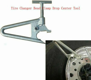 Truck Lorry Heavy Tyre Tire Changer Wheel Rim Bead Clamp Tool Silver Metal