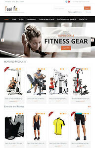 Fitness Gear Website Turnkey Amazon Affiliate Store Free Host Install