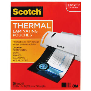 Thermal Laminating Pouches Letter Size 50 pk