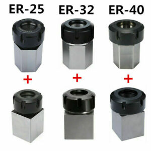 Er 25 32 40 Hex square Collet Block Chuck Holder For Cnc Lathe Grinders Tool Be