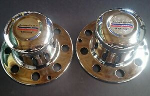 Nos Vintage American Racing 8 lug Truck Center Caps Pair