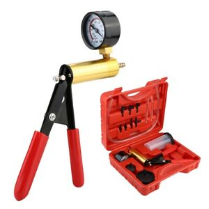 Car Brake Bleeder Pressure Tester Handheld Vacuum Pump Gauge Full Set Tools Kit