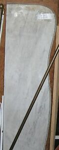 Marble Fireplace Mantle Shelf Antique Marble Top Bevel 48 Inches
