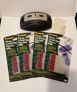 Scotch Pop up Tape Strips Weighted Dispenser C92 gp 15 Pads Of 75 Strips Each