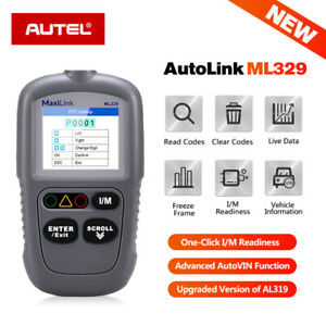Autel Maxilink Ml329 Auto Code Reader Obd2 Scanner Engine Mil Turn off Scan Tool