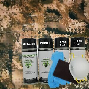 Hydrographic Water Transfer Hydro Dip Full Kit Activator Army Camo 5 Film