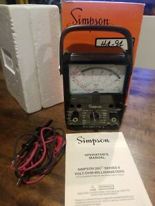 Simpson 260 Multimeter Series 8 Volt ohm milliammeter Testing Instrument