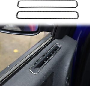 Real Carbon Fiber Front Side Air Outlet Vent Cover Trim For 15 19 Dodge Charger