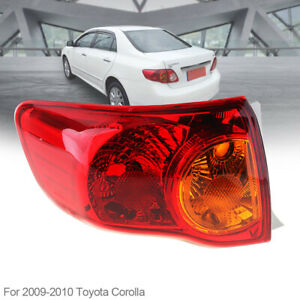 Fit For 2008 2009 2010 Toyota Corolla Outer Left Side Tail Light Rear Brake Lamp