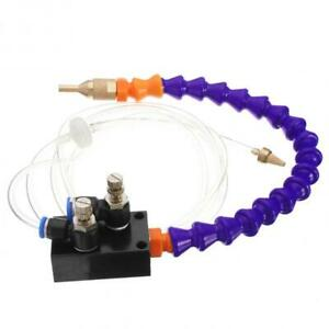 Mist Coolant Lubrication Spray System Fit 8mm Air Pipe Cnc Lathe Mill Drill