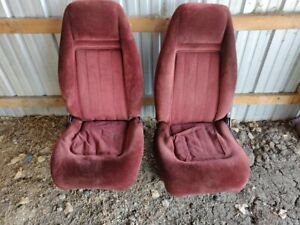 1981 87 Chevrolet Gmc Pickup Truck Blazer Silverado Sierra Front Rear Seats Red