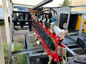 Greatbear 900 200 Skid Steer Hydraulic Trencher Attachment 35 5 Dig Depth New