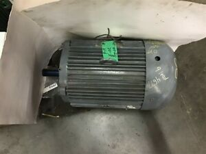 Lincoln 20 Hp Ac Motor 230 460 Volts 35350 Rpm 2p 60 Hz 3 Phase Tefc 256t Frame
