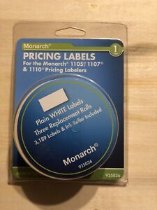 Avery Monarch Model 1105 1107 1110 Pricemarker White Labels Price Stickers New