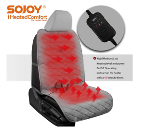 Sojoy Heated Car Seat Cover Cushion Heater With Hi low 45 Automotive Off gray