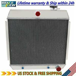 4 Row Aluminum Radiator For Chevy Belair Nomad Cars V8 Engine 1955 1956 1957 Us