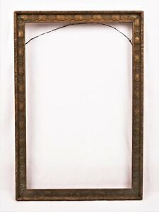 Antique Ornate Art Nouveau Picture Frame Gold Painted Gesso Fits 10 5 X 6 75