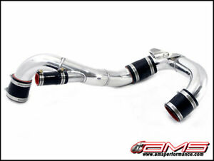 Ams 2008 15 Mitsubishi Evo X 10 Lower Intercooler Pipe Kit Polished