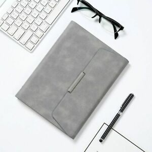 Leather Hand Organizer Folder Notebook Binder Padfolio Document Case School Book