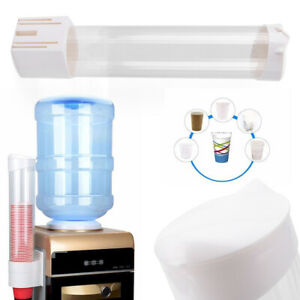 50 Cups Paper Cup Dispenser Plastic Disposable Water Coolers Purifier Holder Set