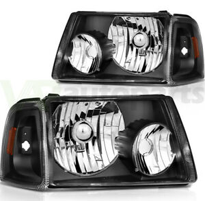 Replacement Headlights For 2001 2011 Ford Ranger Headlamps L R One Pair