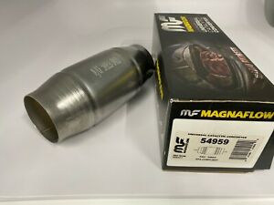 Magnaflow 54959 Universal High Flow Catalytic Converter Round Spun 3 In Out