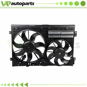 Radiator Condenser Cooling Fan Assembly For Audi A3 Volkswagen Beetle Jetta