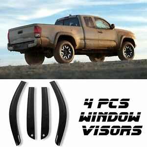 Window Visor Rain Guards Vent Shade For 2016 2020 Toyota Tacoma Double Cab 4door