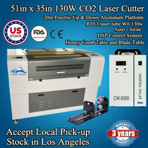 Qomolanga 51x35in 130w Co2 Laser Cutter Engraver With Auto focus Double Table