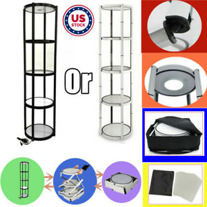 Usa 81 Round Portable Folding Spiral Tower Display Case For Trade Store Show