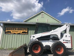 2012 Bobcat S850 Skid Steer Loader Enclosed Sjc Kubota Diesel Cheap Shipping