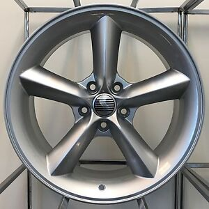 Saleen Mustang Gt Wheels 18 X 9 36 5x4 5 Silver Racecraft 05 09 11 12 Ford Rims