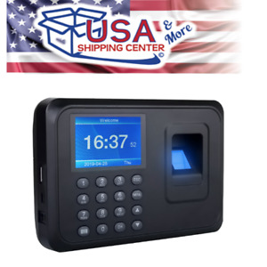 Hd Digital Lcd Finger Print Attendance Time Clock Recorder Work Usb High Quality