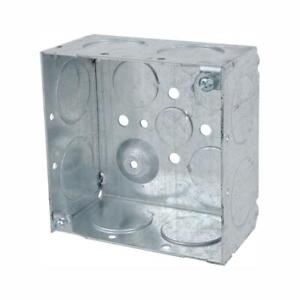 Steel City 1 gang Metal Square Electrical Box 4 In 30 3 Cu In case Of 25