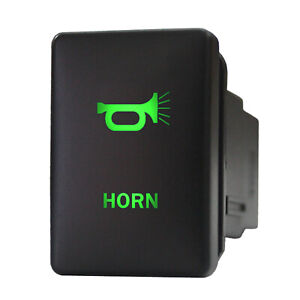 12v Push Switch 954gm Horn Led Green Momentary For Toyota Tundra Sequoia Yaris