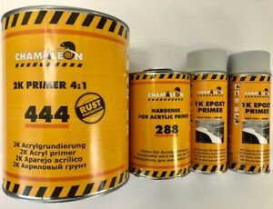 2k Primer Rust Protection Gray Gallon Kit 4 1 1k Epoxy Aerosol 2 Spray Cans