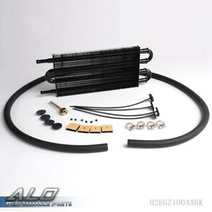 Auto Mt Radiator Universal Full Aluminum Remote Transmission Oil Cooler Kit