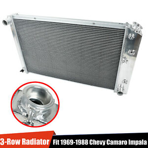 For 69 88 Chevy Camaro impala cutlass 3 row Full Aluminum Core Racing Radiator