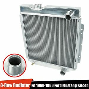 3 Row Aluminum Cooling Radiator Fit 1960 1966 Ford Mustang Falcon Comet V8 Mt