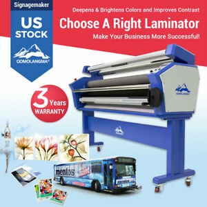 Us Stock Qomolangma 55in 63in 67in Auto Heat Assisted Cold Laminating Laminator