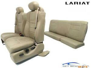 Ford Super Duty Lariat Supercab Tan Leather Front Rear Seats 2002 2003 2006 2007