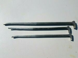 3 Snap On 1650 2050 Heavy Duty Rolling Head Lady Foot Pry Bars Usa