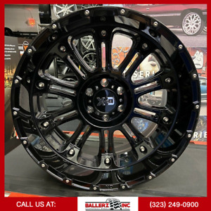 22x12 Xd Offroad On 33 12 50r22 Gloss Black Wheels With Off road Tires