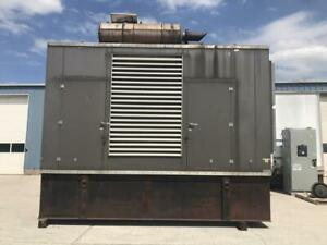 _750 Kw Cummins Generator Set 1 500 Gallon Base Fuel Tank Year 2001 756 Ho